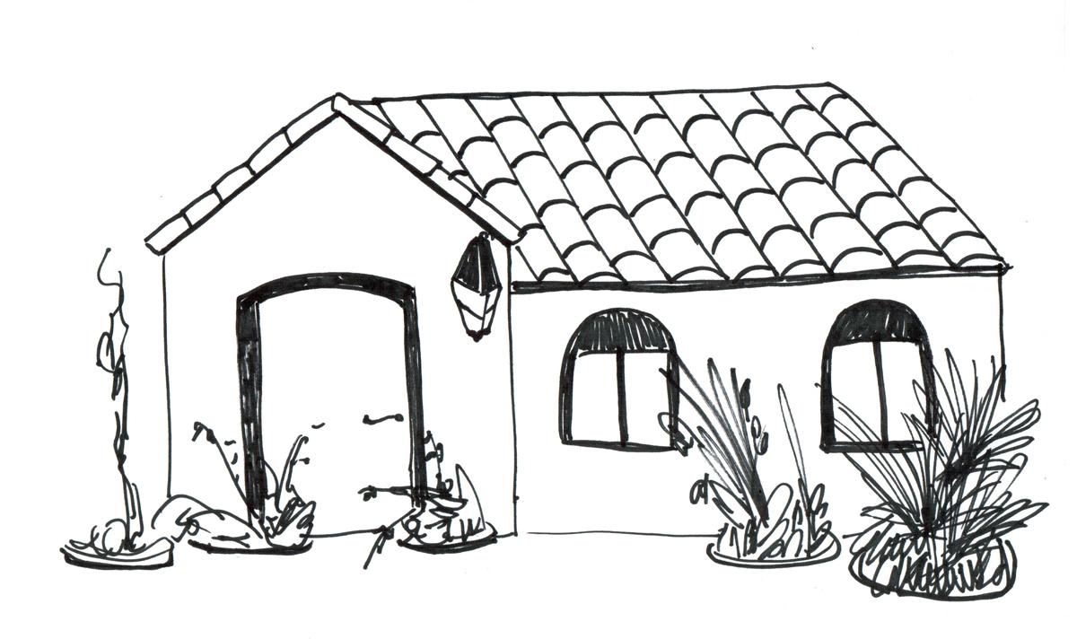 Rosario para colorear: Casa de barrio Acindar