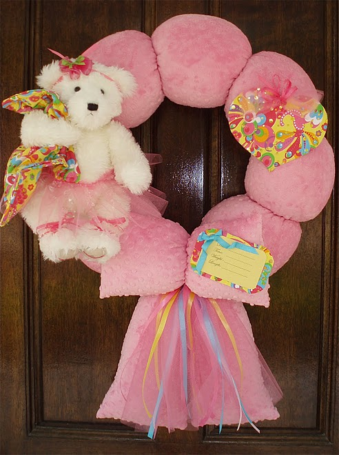 29. Hot pink ballerina wreath