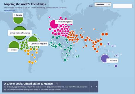 Mapping the World's Friendships facebook