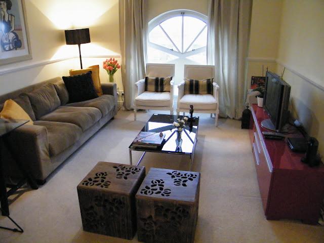 decoração de apartamento pequeno, decoração em tons neutros