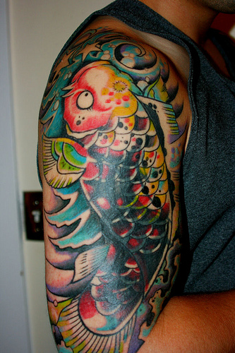 Japanese koi carp tattoos koi fish tattoo for Japanese coy fish tattoo
