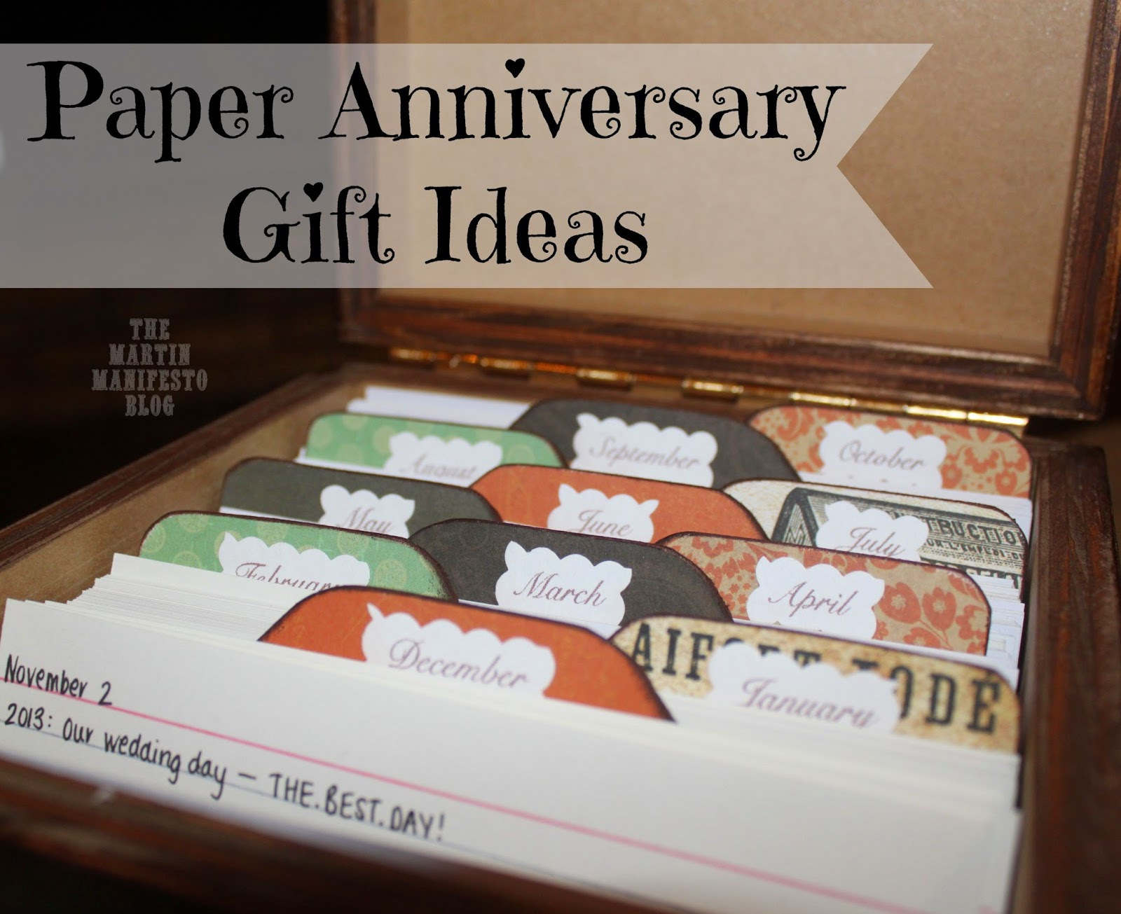 anniversary gifts paper Finding a perfect first anniversary gift can be difficult there is an age-old tradition saying to give a gift made of paper anna v creates unique handmade.