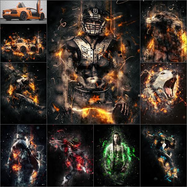 اكشنات فوتوشوب | تاثير النار واللهب جديد 2015