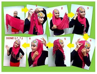 CaraMemakaiPashminaModernDenganInner Cara Memakai Jilbab Pashmina Untuk Wajah Bulat