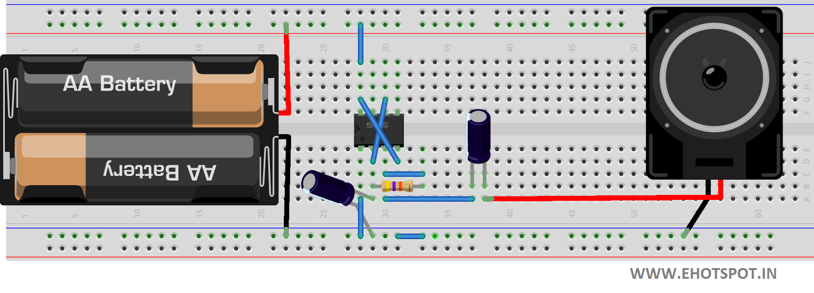 Ticking Bomb Sound Circuit Using 555 Ic Electronics Hotspot Timer Time Delay 9leave Pin 57 As There Is No Use Of Them In This 10turn On Power To And Enjoy The Effect