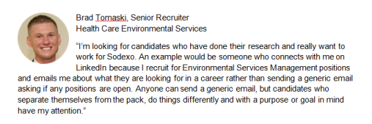 Sodexo Housekeeping Management Recruiter Brad Tomaski