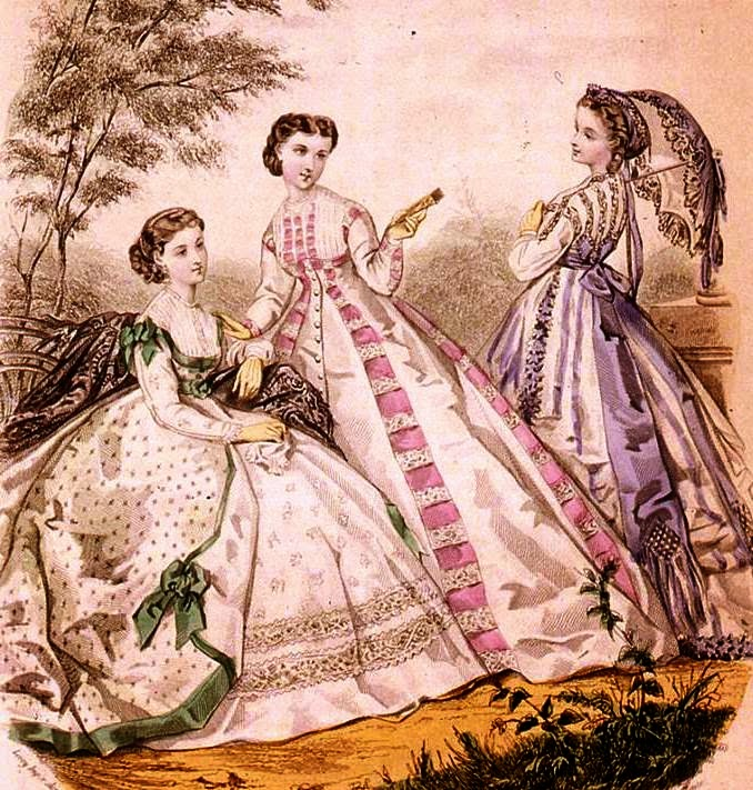 historia del traje: Capítulo 31: Indumentaria femenina 1862-1869: el ...