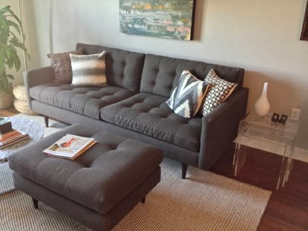 Crate Barrel Tufted Couch