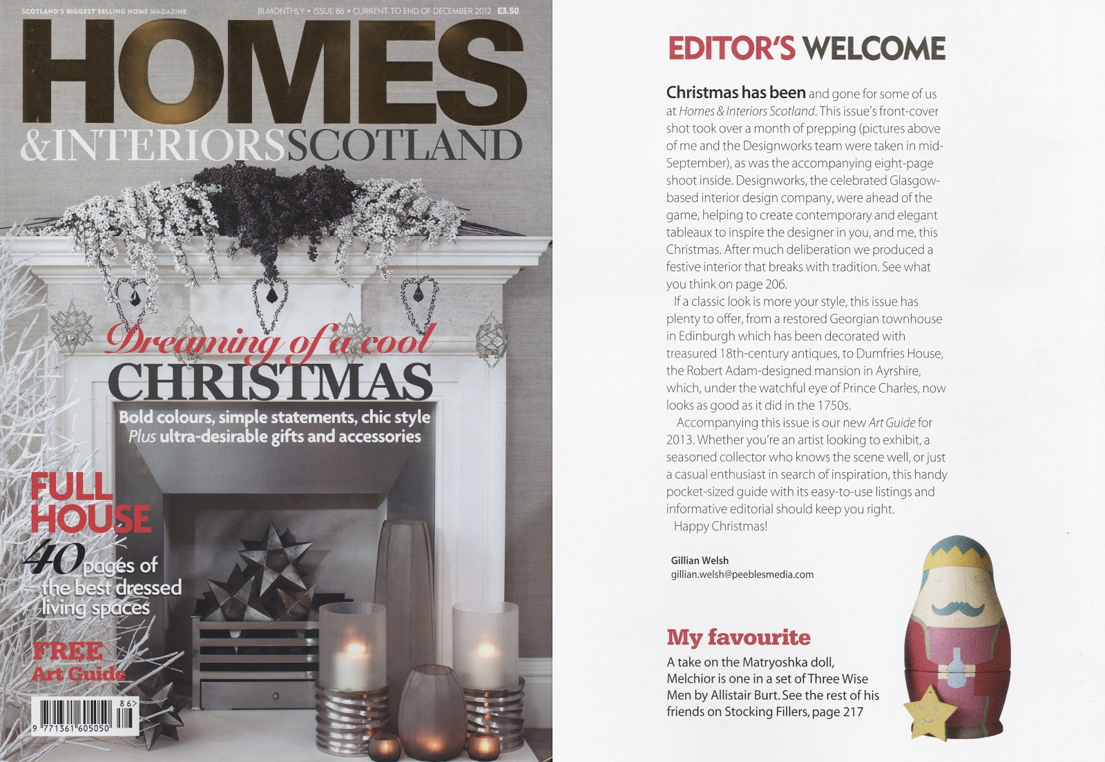 Home U0026 Interiors Scotland December 2012