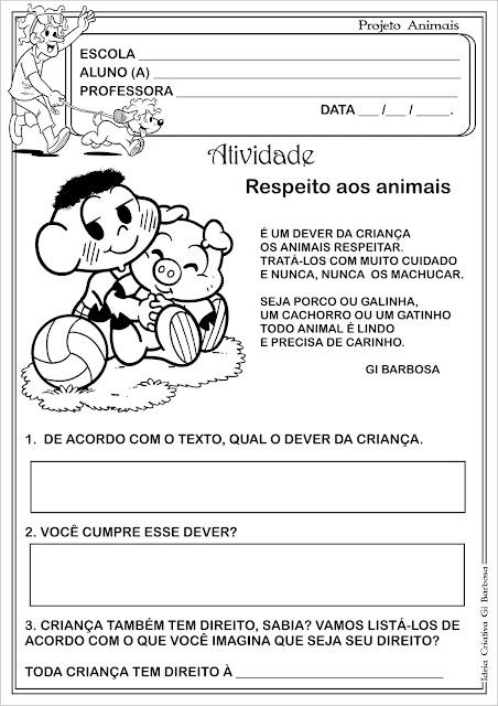 Atividade Projeto Animais Vinícius de Moraes