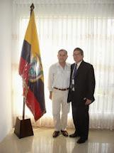 Encuentro extra-protocolar con el Consul de Ecuador en Piura, Perú año 2009