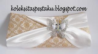 Clutch Bag Tas Pesta Handmade Bahan Mirip Songket Mewah Cantik
