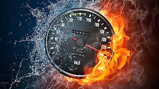 Speed Power Water Vs Fire 240Km/H Abstract HD Wallpaper NFS