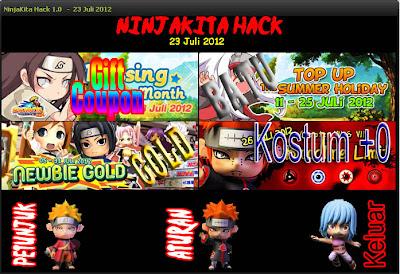 Cheat / Hack NinjaKita Gold, Gift Coupon, Batu NEW