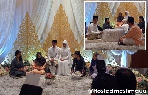 5 Gambar Majlis nikah Sam Bunkface dan Aida Azira pagi ini