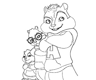 #1 Alvin and the Chipmunks Coloring Page