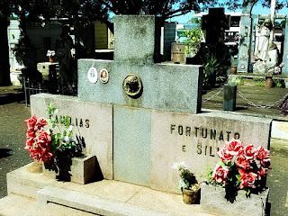 Túmulo de Gregório Fortunato, chefe da segurança do ex-presidente Getúlio Vargas. Cemitério Jardim da Paz, São Borja.
