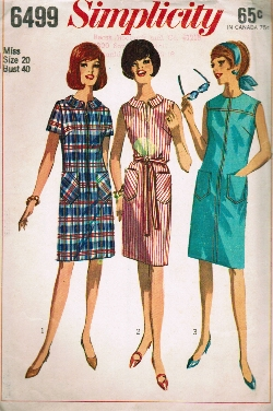 1960s house dress pattern Just Peachy, Darling