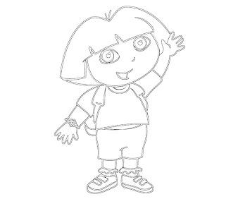 #2 Dora Coloring Page