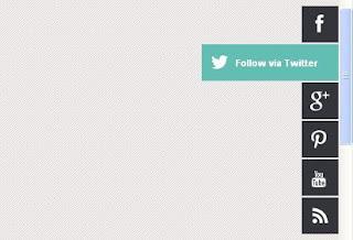 Barre verticale avec boutons de partage sur réseaux sociaux avec Effet
