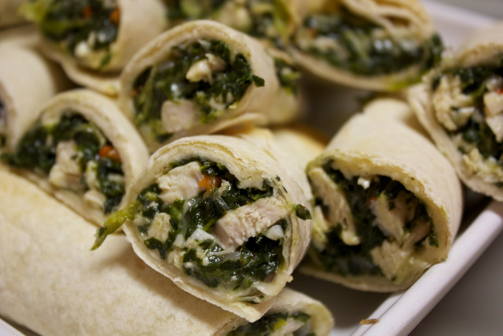 friendly kitchen: chicken spinach roll-ups
