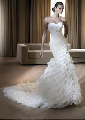 Primeira vez vestida de noiva