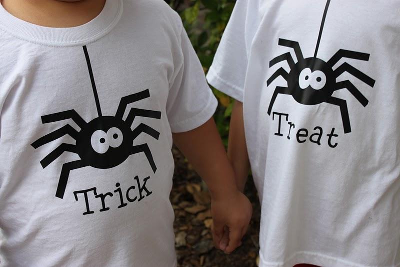 trick or treat halloween shirts - Homemade Halloween Shirts