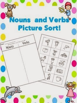 math worksheet : autism tank nouns verbs and adjectives freebie links! : Nouns Verbs Adjectives First Grade