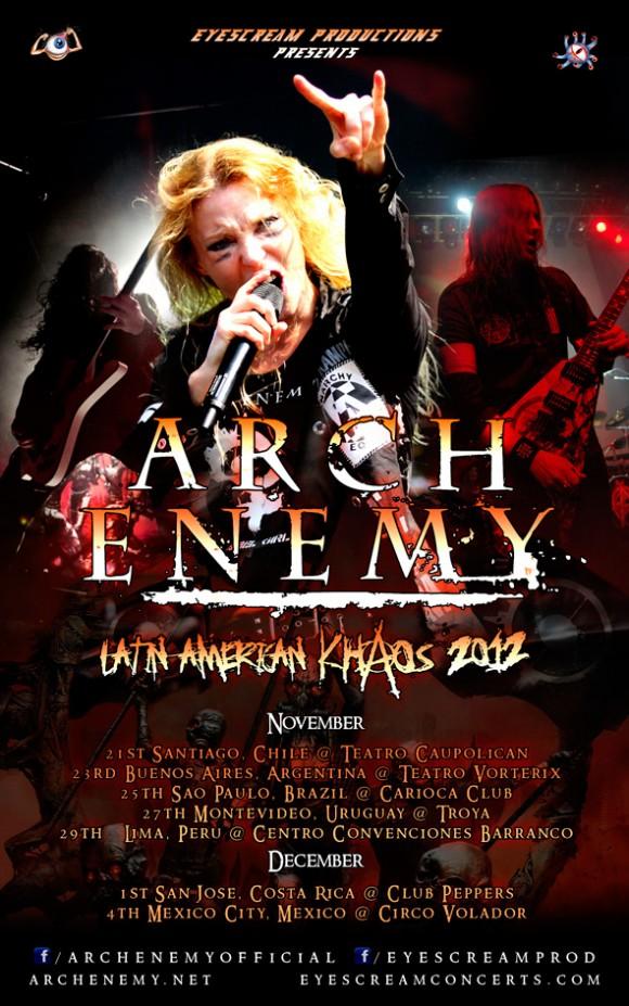 """ARCH ENEMY EN LIMA - PERÚ en su gira """"Latin American Khaos 2012""""  Archenemy-latin+america+khaos+2012"""