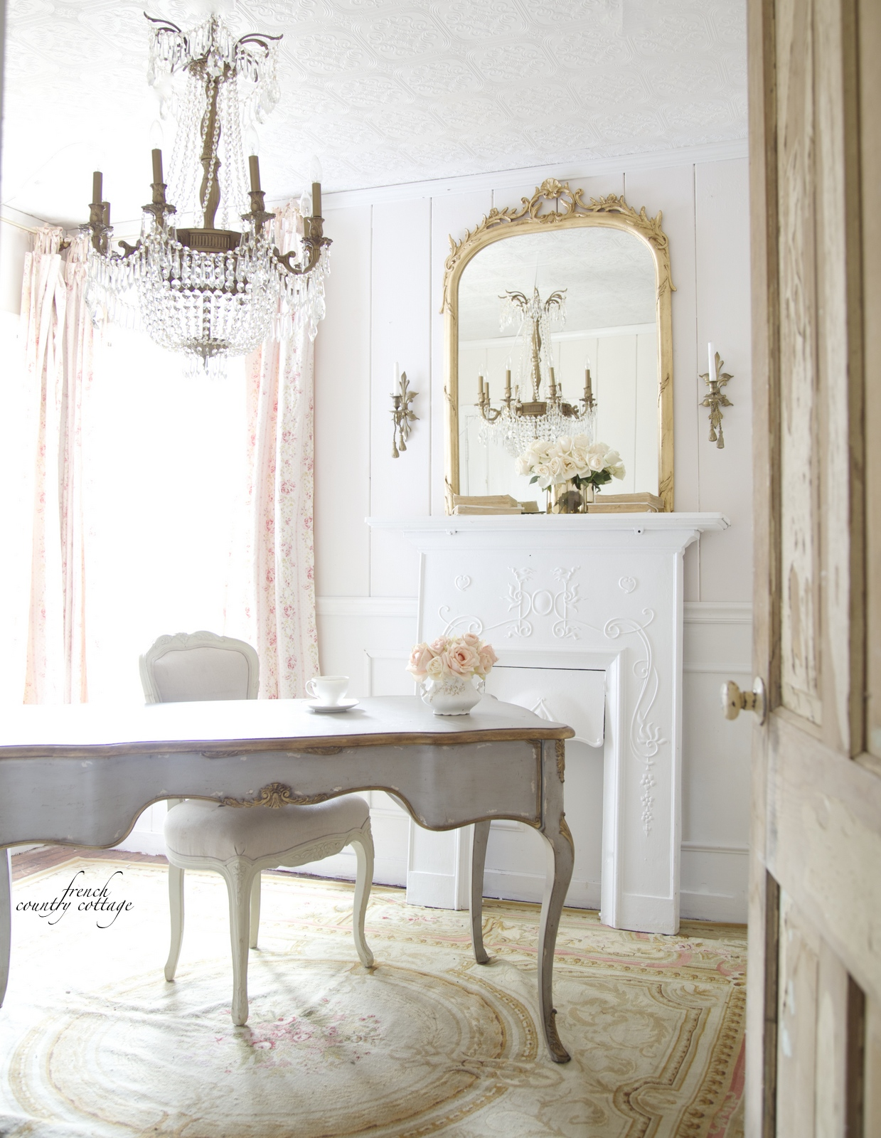 French style office french country cottage for French country architecture