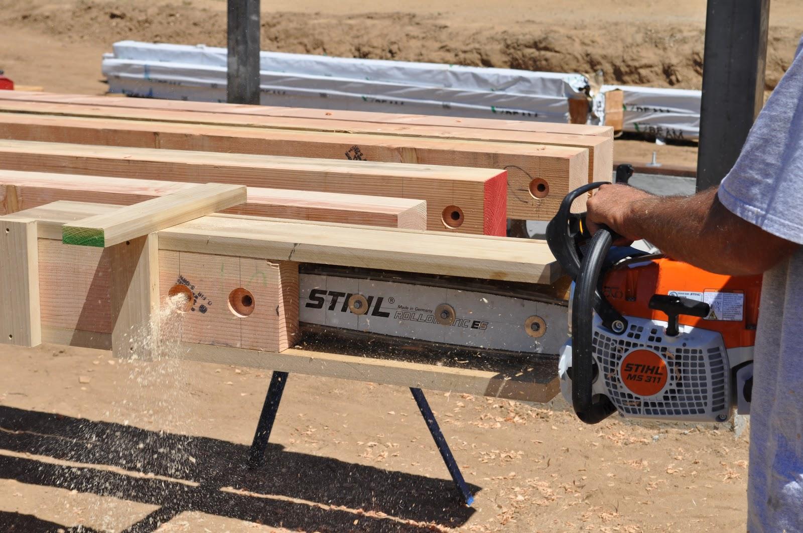 Roof Framing Geometry: Knife Plate Slotter for Timber Framing
