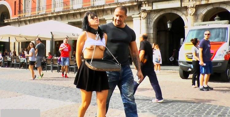 Pamela Sanchez follada brutal y humillada por las calles de Madrid!