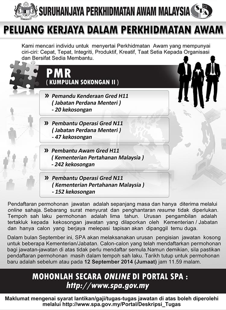 461 jawatan kosong di Suruhanjaya Perkhidmatan Awam September 2014