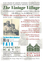 NEXT EVENT : SUNDAY 8TH MAY- STOCKPORT VINTAGE VILLAGE