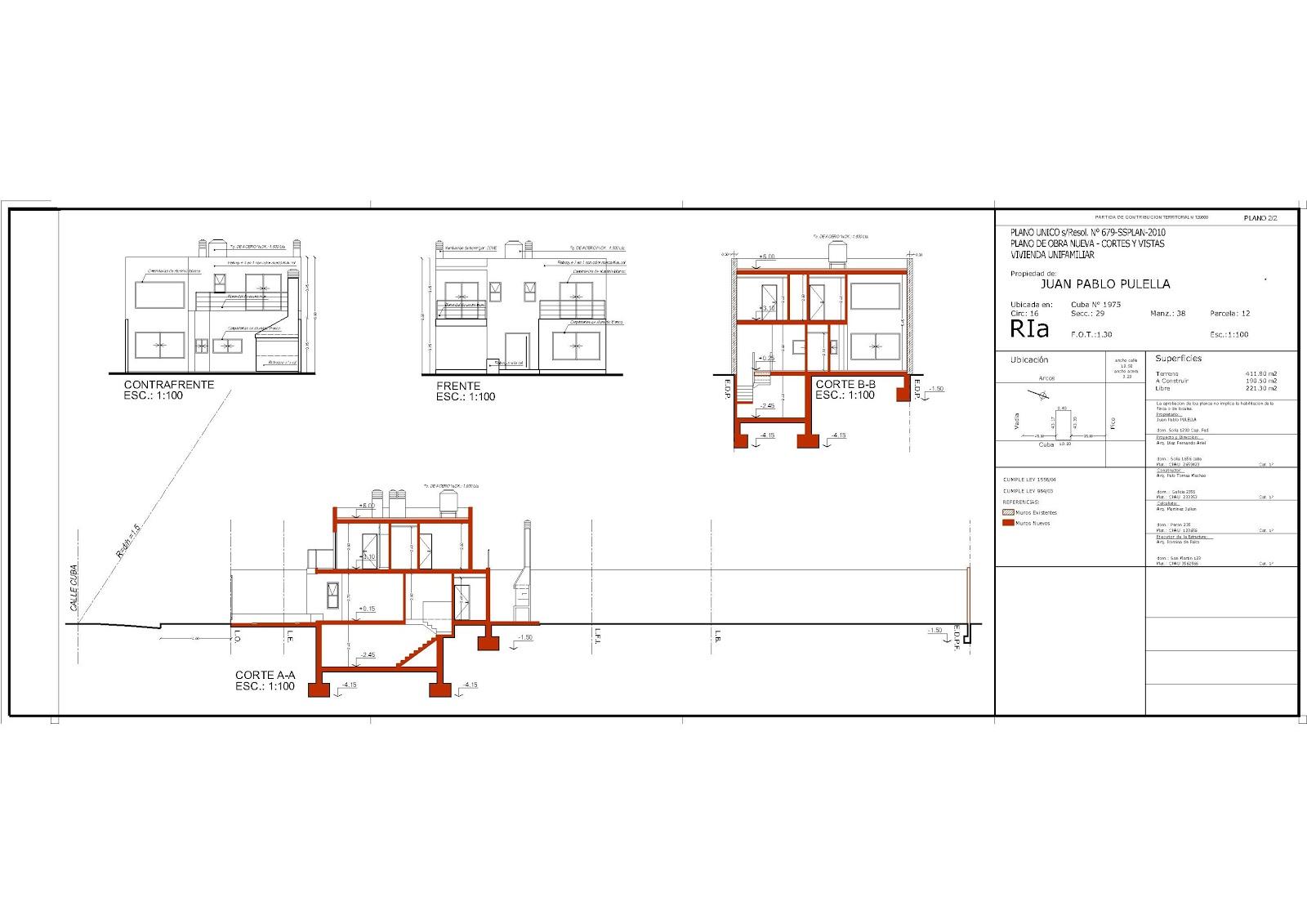 Direccion y legislacion de obra plano municipal plano for Planos en linea