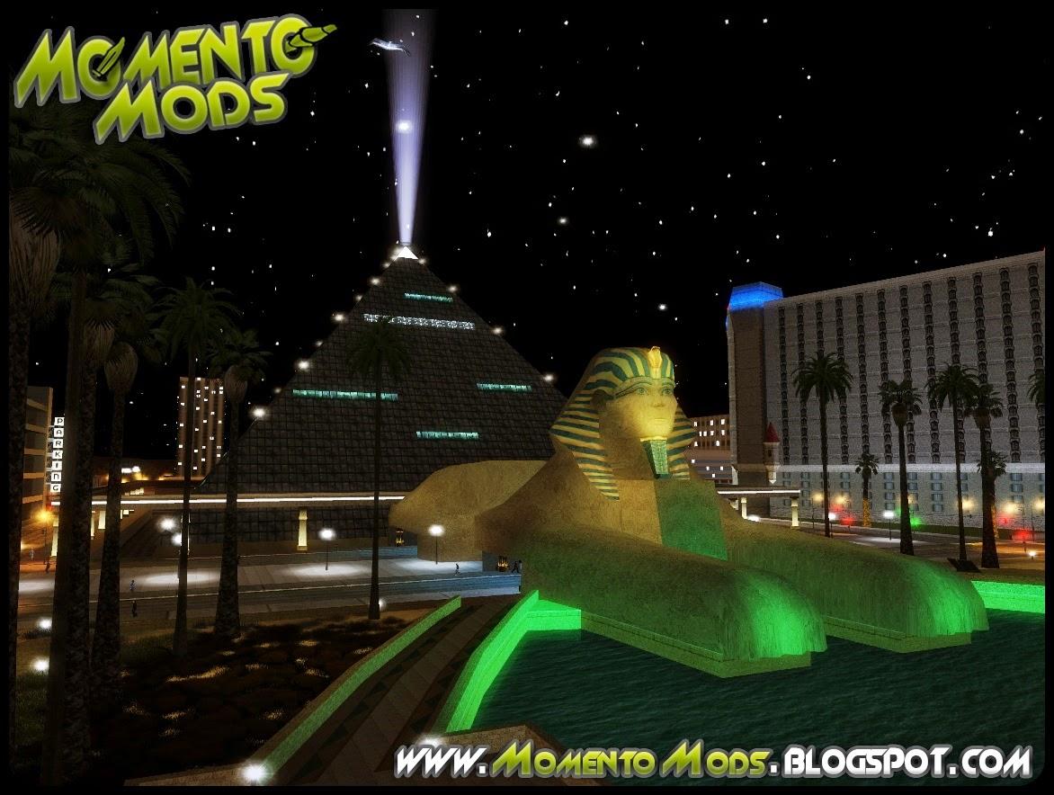 GTA SA - Farol e Pirâmide Com Refletores De Luz