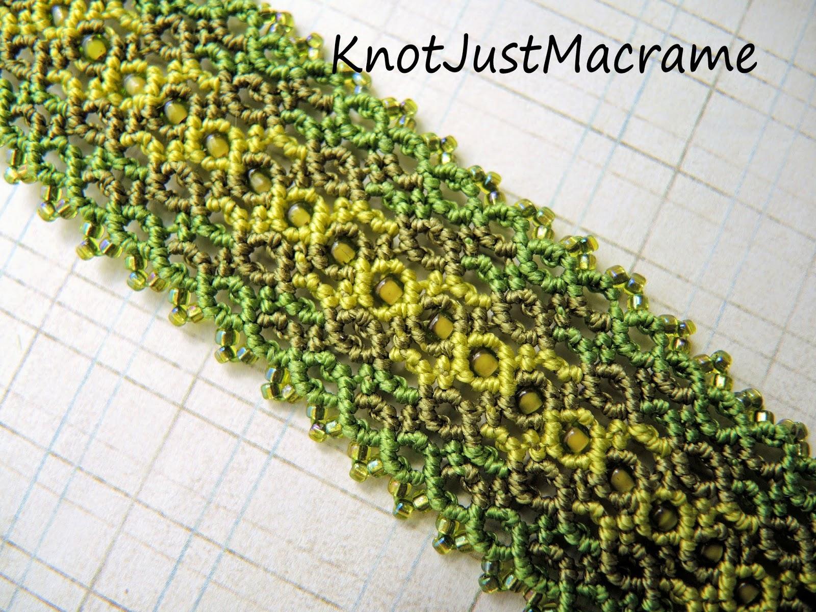 Marquise Micro Macrame Cuff by Sherri Stokey of Knot Just Macrame