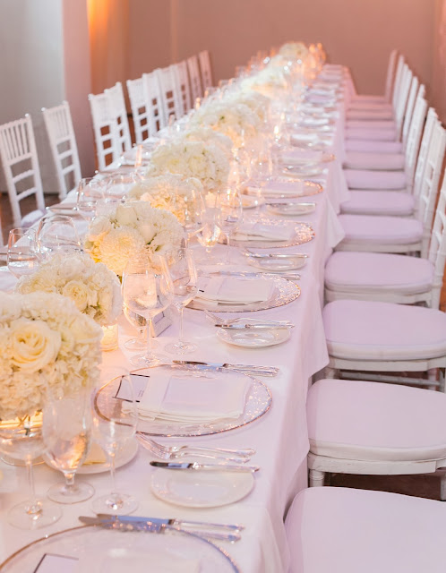 all white wedding flowers white chivari chairs and white linen