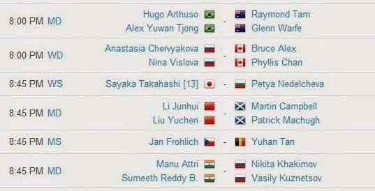 Jadwal Pertandingan BWF World Championships 2014 Hari Kedua 6