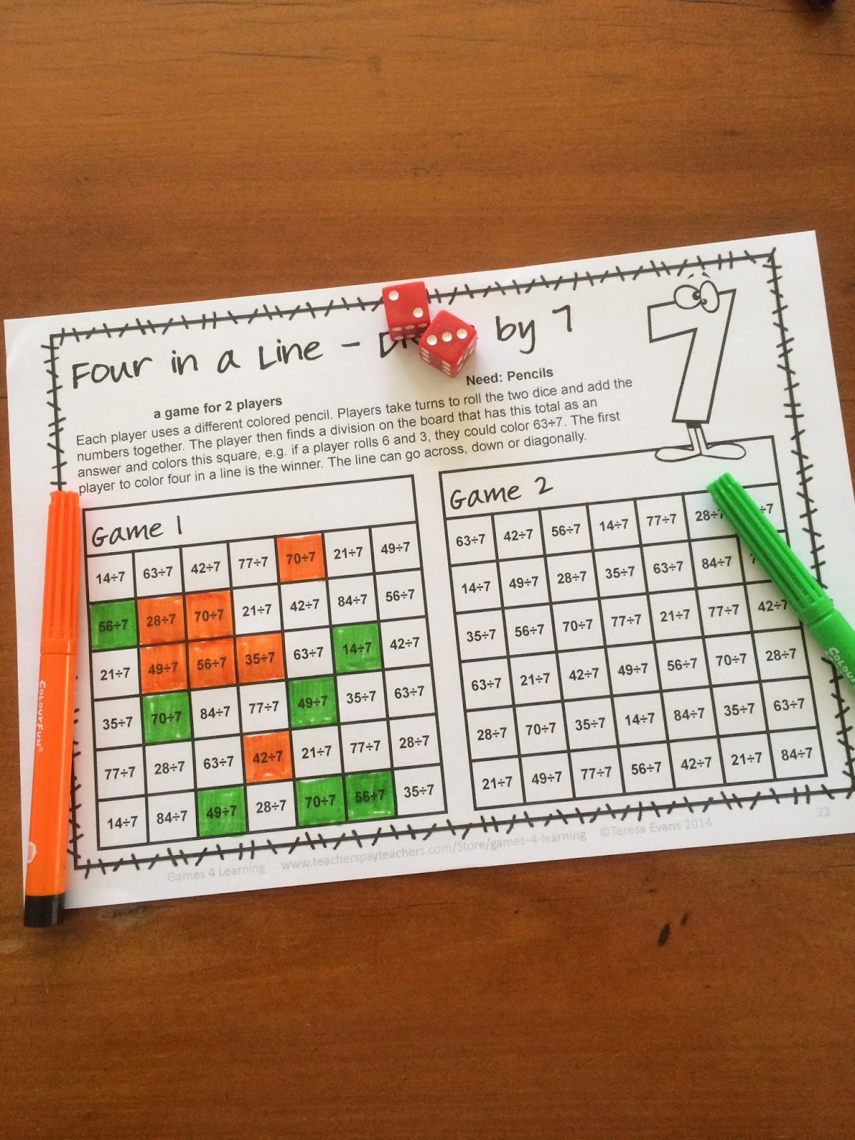 Fun Games 4 Learning: More NO PREP Math Games Freebies