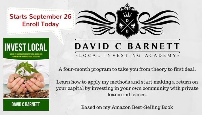 The Local Investing Academy Starts September 26