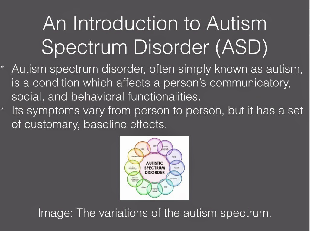 essay on autism spectrum disorder Introduction to autism spectrum disorder autism spectrum disorder has become the most common neurological and developmental disorder diagnosed in children today the united states centers for disease control and prevention (2012) estimate that 1 out of every 88 american children have been properly diagnosed.