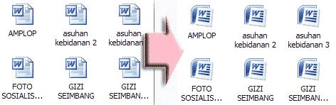 Icon file word berubah