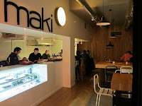 MAKI, Sushi bar take away. Malasaña.