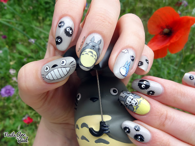 Nail art Mon voisin Totoro dessin