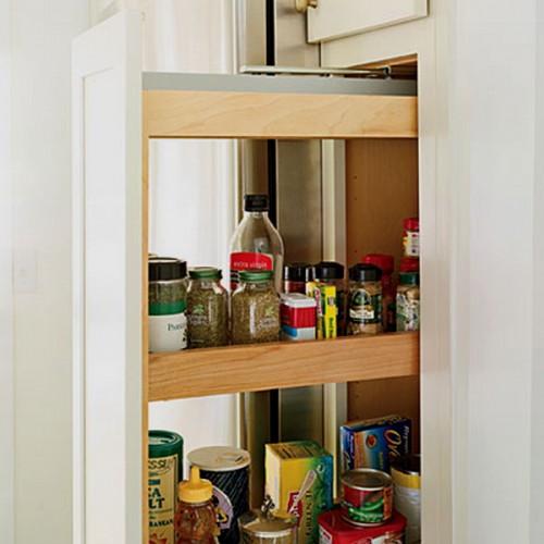 Decorando mejor estantes y cajones de cocina ideas de - Como hacer estantes de cocina ...