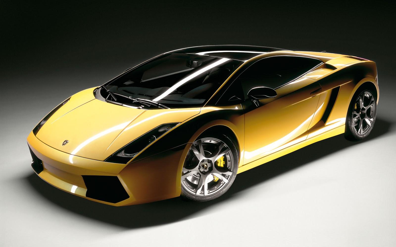 Hot Cars Lamborghini Gallardo Yellow Color