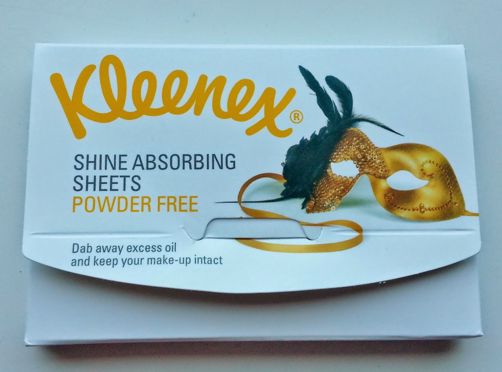 Kleenex shine absorbing sheets
