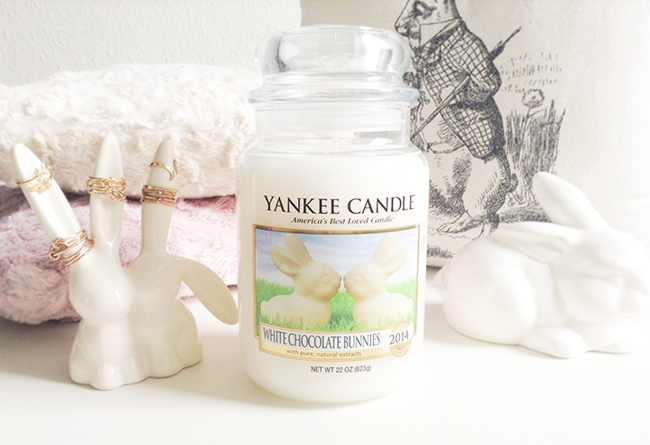 yankee candle white chocolate bunnies