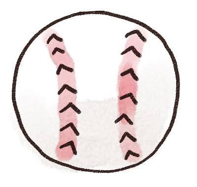 野球のボールのイラスト(スポーツ器具)